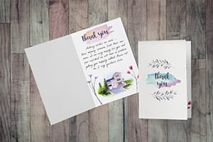 3 Unique & Unbranded Thank You Cards