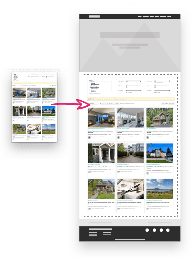RealtyNinja Listings Only (IDX) Embedded On Website