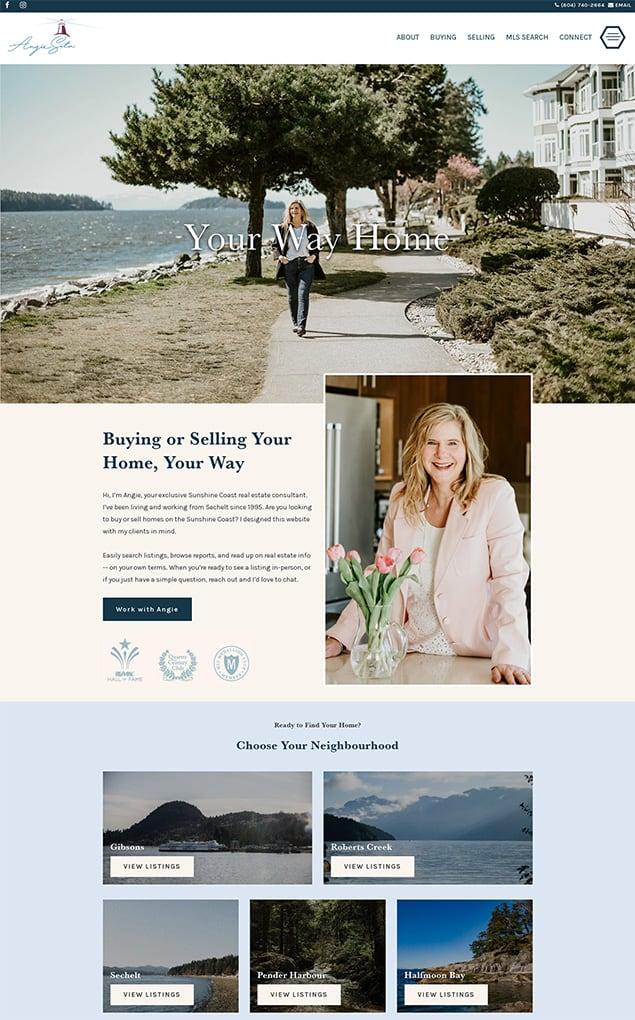 RealtyNinja Fully Custom Theme Example 4 On Desktop